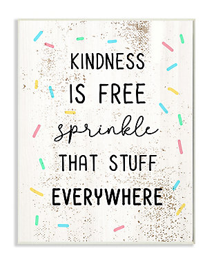 Sprinkle Kindness Everywhere 13x19 Wall Plaque, White, large