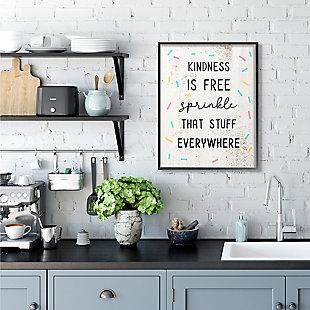 Sprinkle Kindness Everywhere 24x30 Black Frame Wall Art, White, rollover