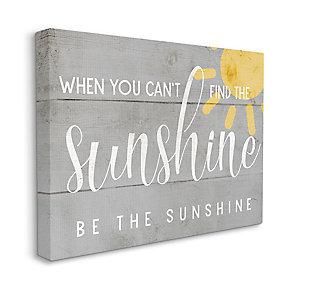 Be the Sunshine Positivity Phrase 30x40 Canvas Wall Art, , large