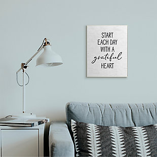 Start Each Day with a Grateful Heart 13x19 Wall Plaque, White, rollover