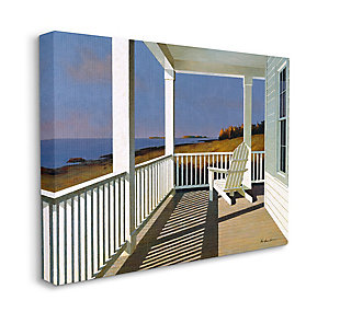 Cottage Porch Scene at Sunset 30x40 Canvas Wall Art, , large