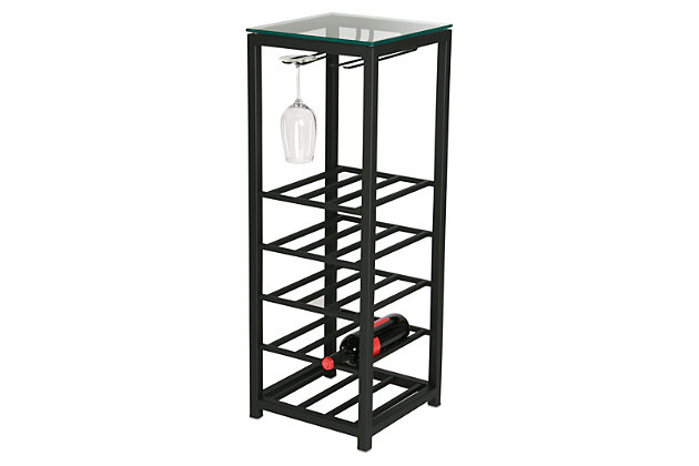 Black Home Accents Mini Wine Bar by Ashley HomeStore
