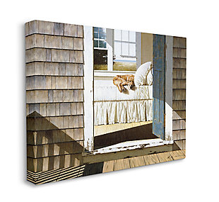 Dog Nap at Cape House 36x48 Canvas Wall Art, , large