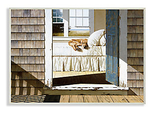 Dog Nap at Cape House 13x19 Wall Plaque, Brown, large