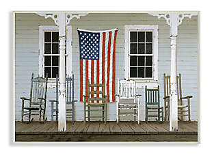 Distressed Rocking Chair Porch Americana 13x19 Wall Plaque, Multi, large