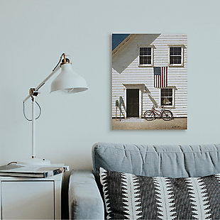 Americana Cape House Front 24x30 Canvas Wall Art, , rollover