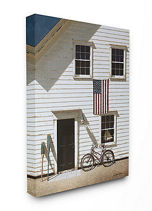 Americana Cape House Front 36x48 Canvas Wall Art, White, large