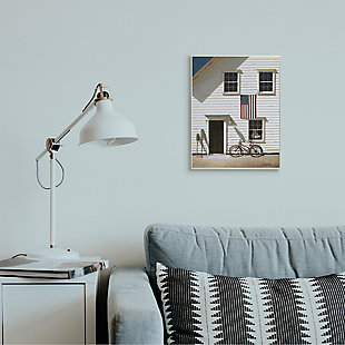 Americana Cape House Front 13x19 Wall Plaque, White, rollover
