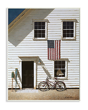 Americana Cape House Front 13x19 Wall Plaque, White, large