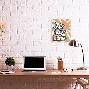 Let's Stay Home Summer Sun 16x20 Canvas Wall Art, , rollover