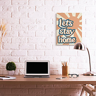 Let's Stay Home Summer Sun 24x30 Canvas Wall Art, , rollover