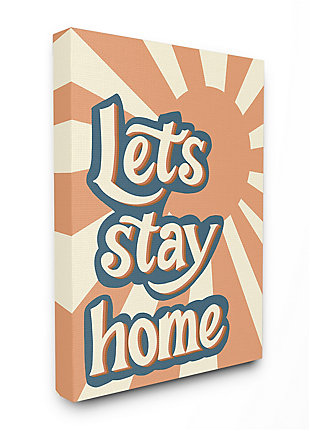 Let's Stay Home Summer Sun 24x30 Canvas Wall Art, , large