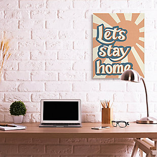 Let's Stay Home Summer Sun 30x40 Canvas Wall Art, , rollover
