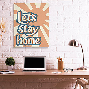 Let's Stay Home Summer Sun 36x48 Canvas Wall Art, , rollover