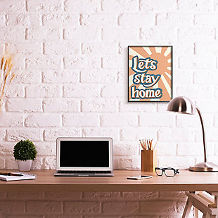 Let's Stay Home Summer Sun 16x20 Black Frame Wall Art, , rollover