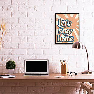 Let's Stay Home Summer Sun 24x30 Black Frame Wall Art, , rollover
