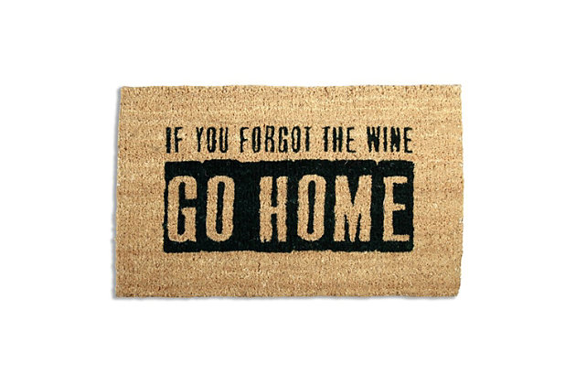 Black Home Accents Where'S The Wine? Door Mat by Ashley HomeStore