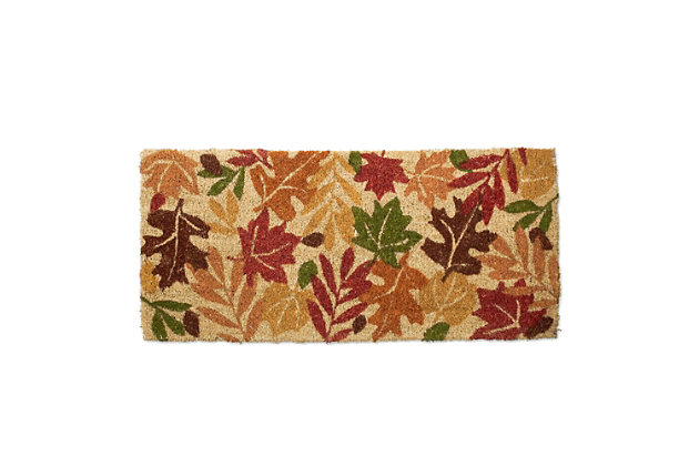 Multi-Color Home Accents Harvest Leaves Door Mat by Ashley HomeStore