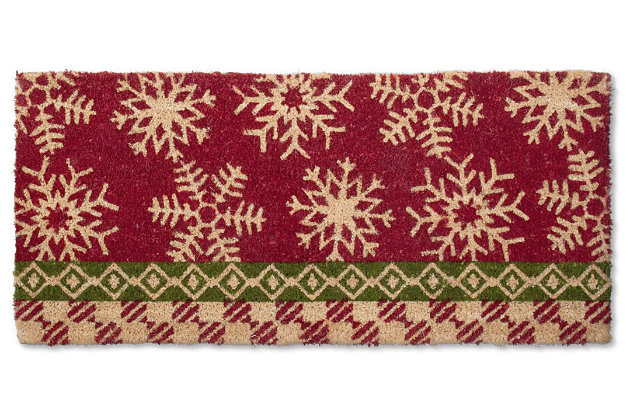 Home Accents Snowflake Doormat by Ashley HomeStore, Red