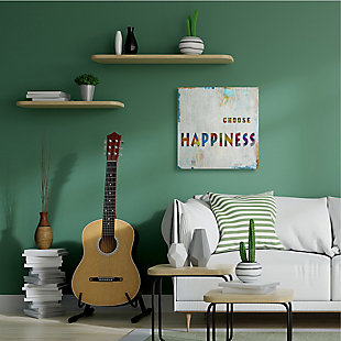 Choose Happiness Phrase 36x36 Canvas Wall Art, Multi, rollover