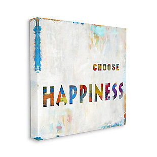 Choose Happiness Phrase 36x36 Canvas Wall Art, Multi, large