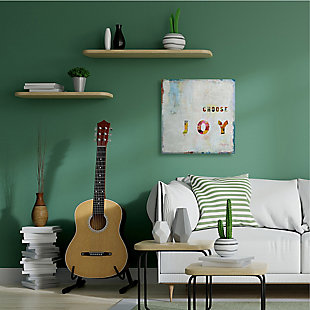 Choose Joy Phrase 30x30 Canvas Wall Art, Multi, large