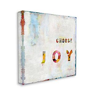 Choose Joy Phrase 36x36 Canvas Wall Art, Multi, large