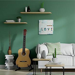 Choose Love Quote 24x24 Canvas Wall Art, Multi, rollover