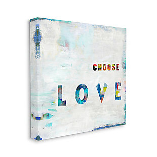 Choose Love Quote 24x24 Canvas Wall Art, Multi, large