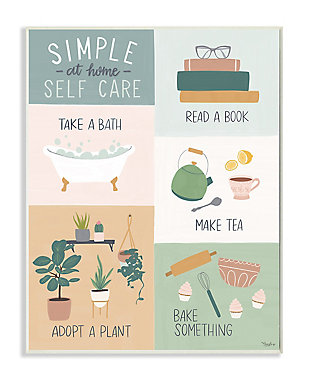 Self Care at Home Chart 13x19 Wall Plaque, Multi, large
