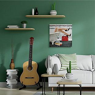 Fashion Forward Female in Home Bath 36x36 Canvas Wall Art, Multi, rollover