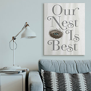 Our Nest is Best Rustic Nursery 36x48 Canvas Wall Art, , rollover
