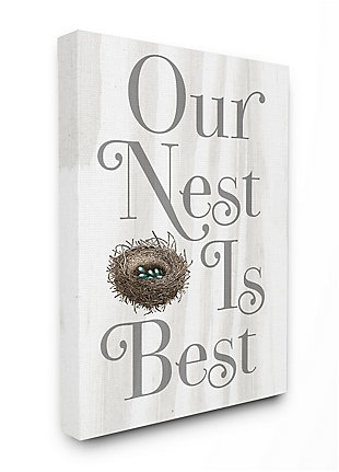 Our Nest is Best Rustic Nursery 36x48 Canvas Wall Art, , large