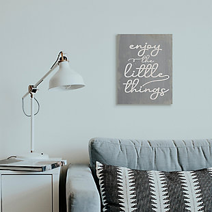 Enjoy The Little Things Phrase 16x20 Canvas Wall Art, , rollover