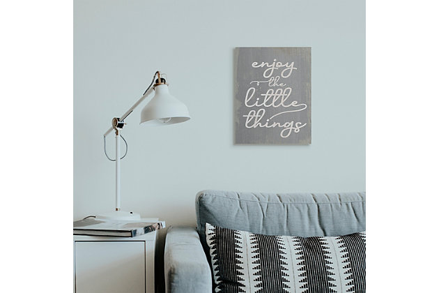 Enjoy The Little Things Phrase 16x20 Canvas Wall Art, , large