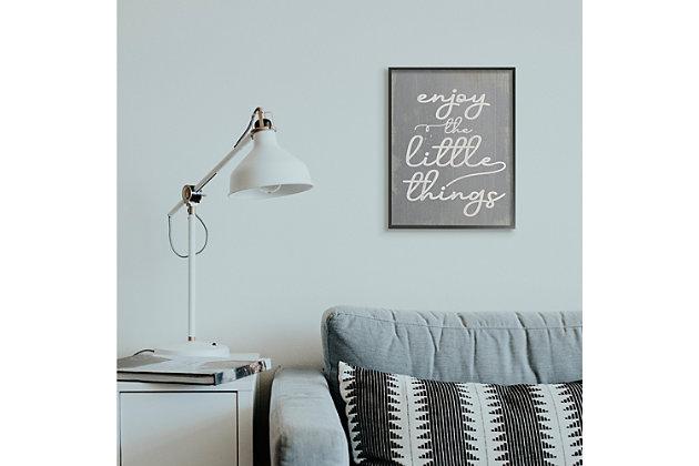 Enjoy The Little Things Phrase 16x20 Black Frame Wall Art, , large