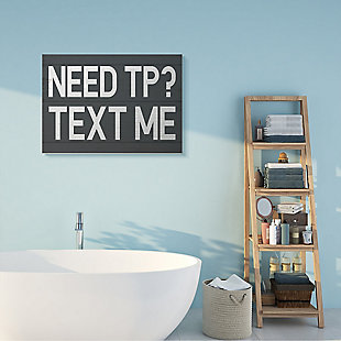 Text Me for TP Rustic Inspired Bathroom Sign 30x40 Canvas Wall Art, , rollover