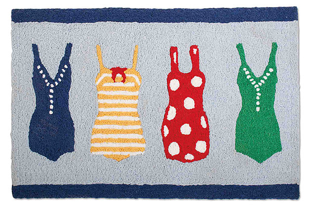 Multi-Color Home Accents Surfer Girl Door Mat by Ashley HomeStore