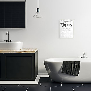 Family Laundry Room Service 13x19 Wall Plaque, White, rollover