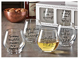 Home Accents Glassware (Set of 4), , rollover