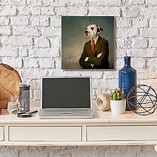 Dalmatian In Men's Fashion Family Pet 24x24 Canvas Wall Art, , rollover