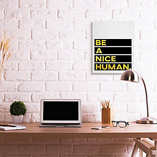 Be a Nice Human Quote 24x30 Canvas Wall Art, , rollover