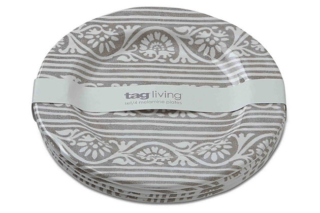 Home Accents Artisan Melamine Salad Plates (Set of 4) by ...