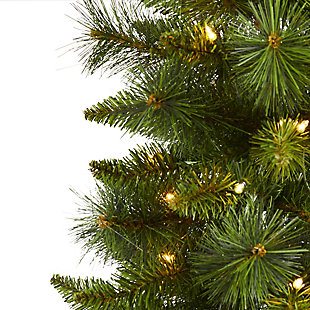 Nearly Natural  3 Ft. New Haven Pine Artificial Christmas Tree with 50 Warm White LED Lights, , rollover