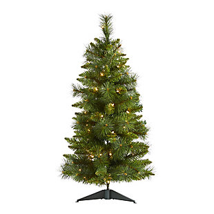 Nearly Natural  3 Ft. New Haven Pine Artificial Christmas Tree with 50 Warm White LED Lights, , large