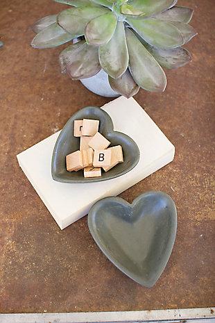 Carved Stone Heart Bowl - Dark Gray, , rollover