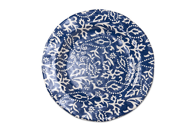 Home Accents Artisan Melamine Dinner Plates (Set of 4) by Ashley HomeStore, Blue
