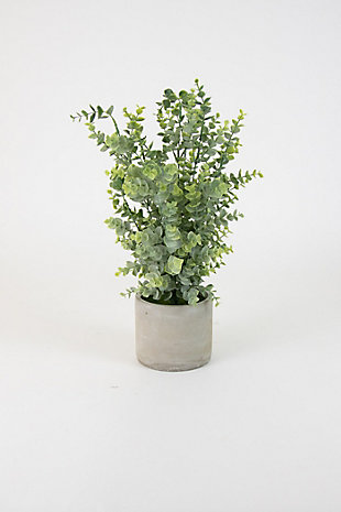 Artificial Boxwood In a Cement Pot, , large