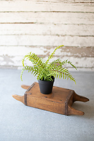Artificial Potted Fern (Box of 4), , rollover
