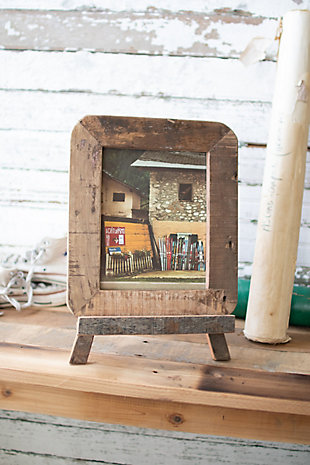 Recycled Wood Photo Frame on An Easel, , rollover